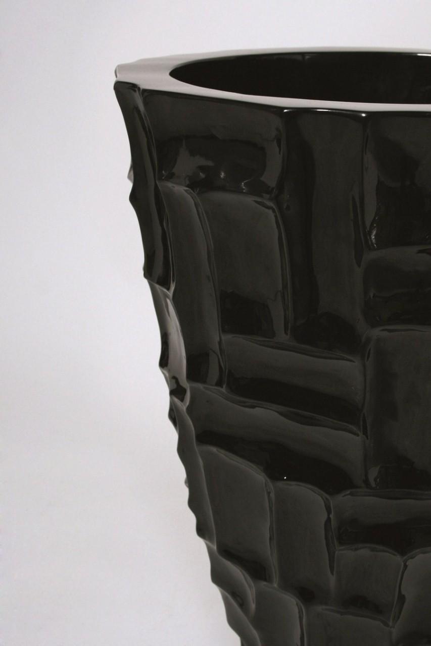Mosaic schwarz | Kunstharz Pflanzvase