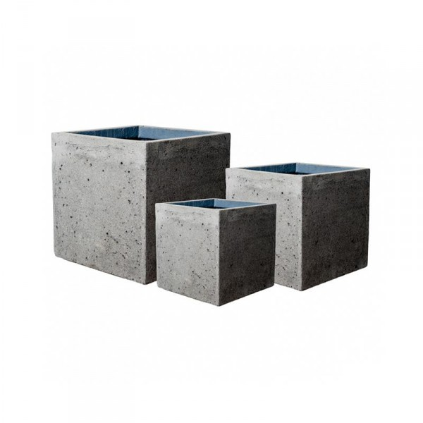 Block Pflanzkübel Laterite Grey Collection 3er Set