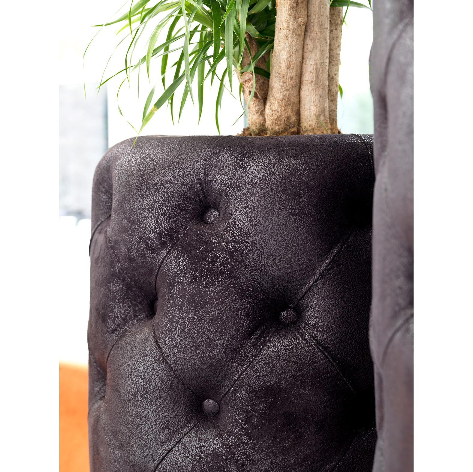 club kunstleder xxl pflanzvase turmalin black terrapalme. Black Bedroom Furniture Sets. Home Design Ideas