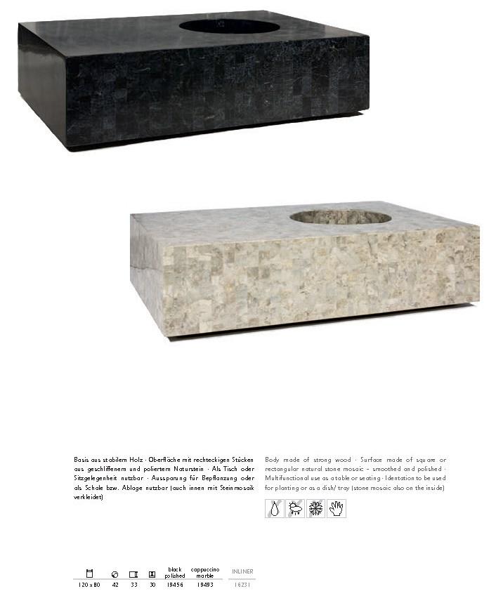 geo steinmosaik bepflanzbares sitzm bel palmenmarkt. Black Bedroom Furniture Sets. Home Design Ideas