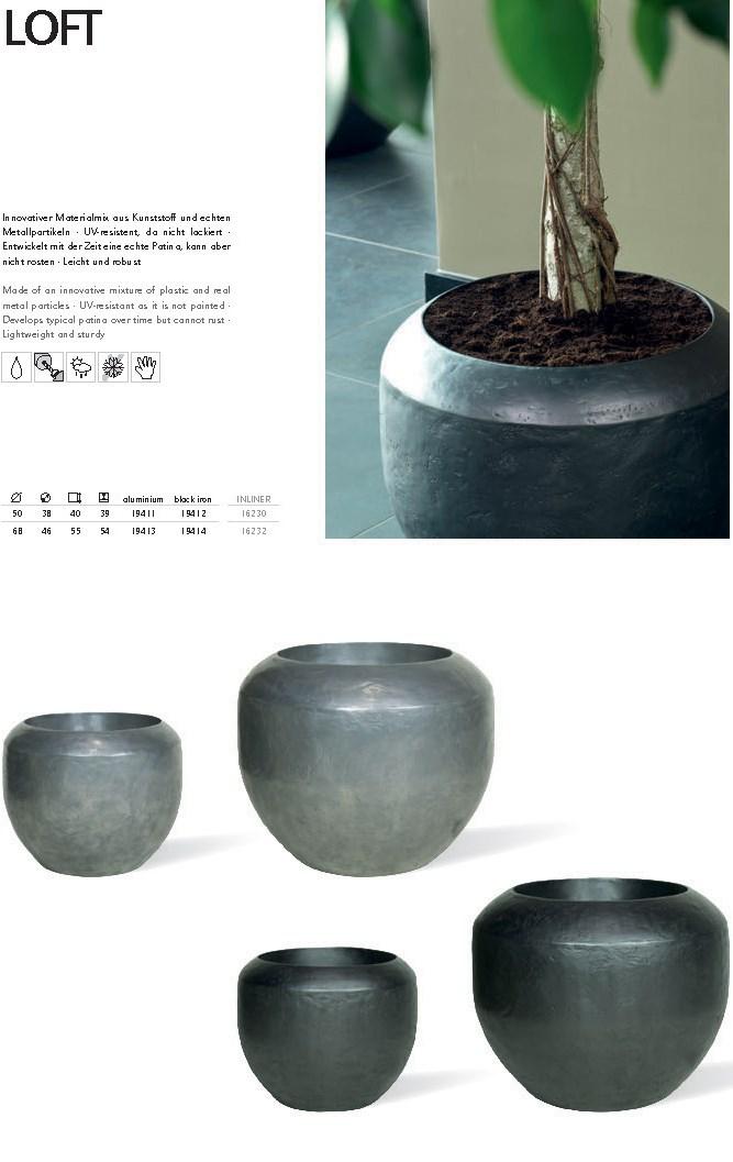 Loft aluminium Pflanzkübel | Terrapalme Heim- und Gartenshop
