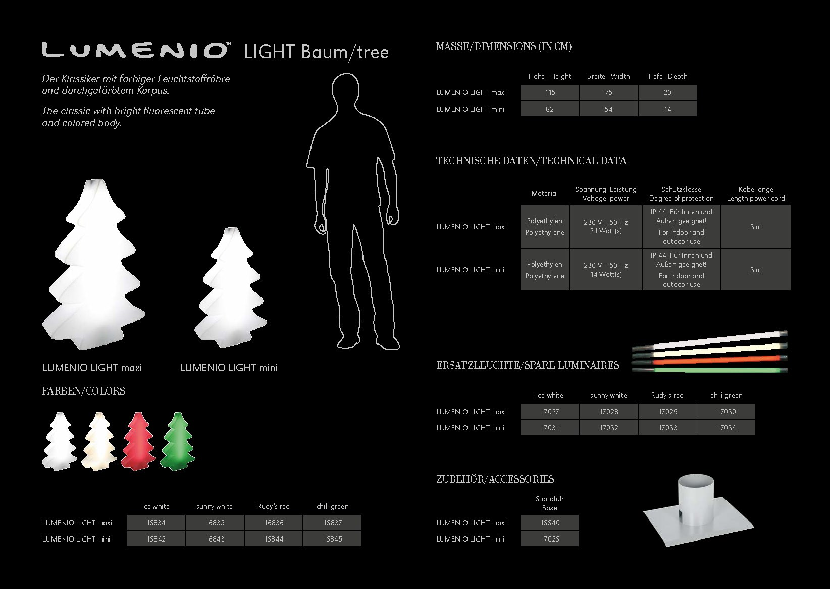 Lumino Light Baum Broschuere