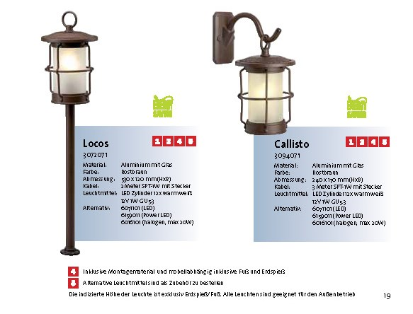 Callisto Garden lights