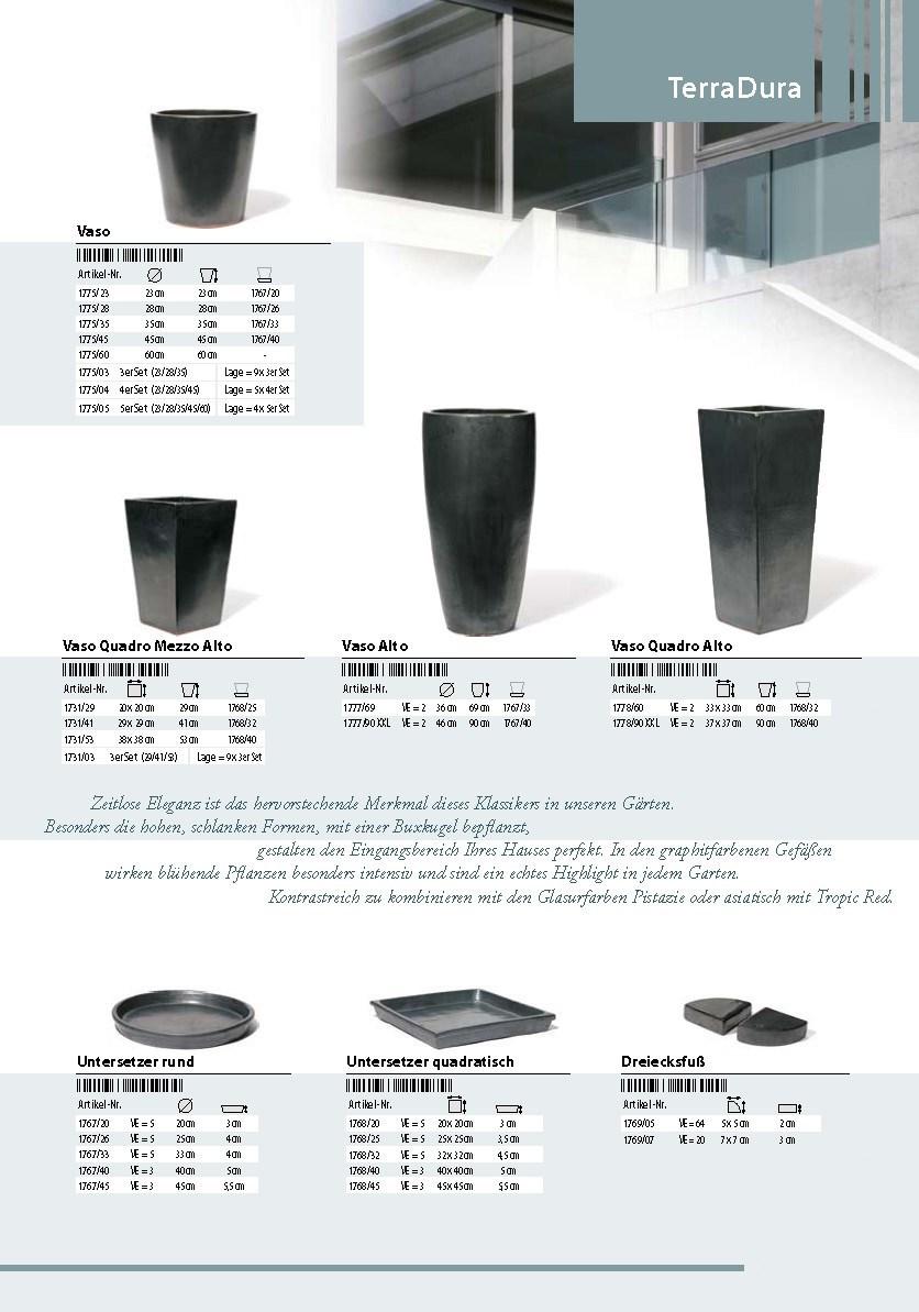 TerraDura-Keramik-Pflanzkuebel-Glasiert-Graphit