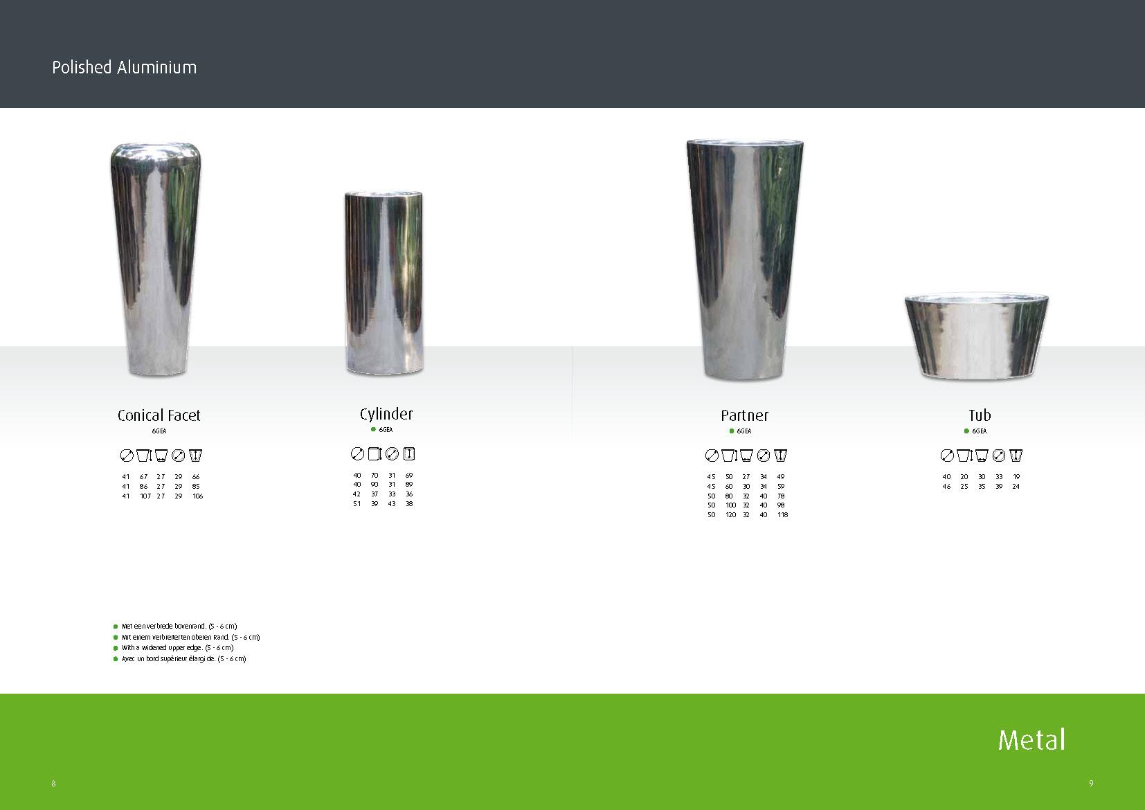aluminium partner vase l poliert palmenmarkt. Black Bedroom Furniture Sets. Home Design Ideas