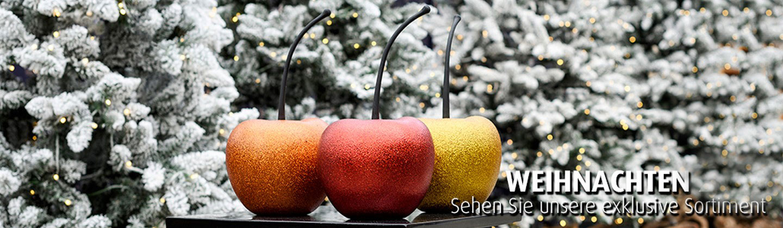 Kirsche-Apfel-Dekofrucht-Glitter-Fiberglas-apple-fruit-Weihnachtsstimmungsbild