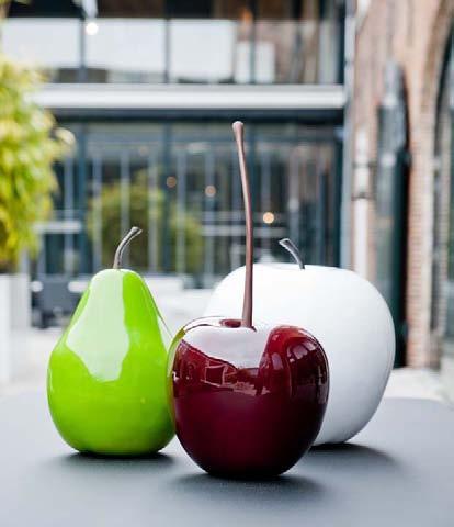 Deko kirsche silber cherry fruit ein kunstobjekt aus for Kirsche deko
