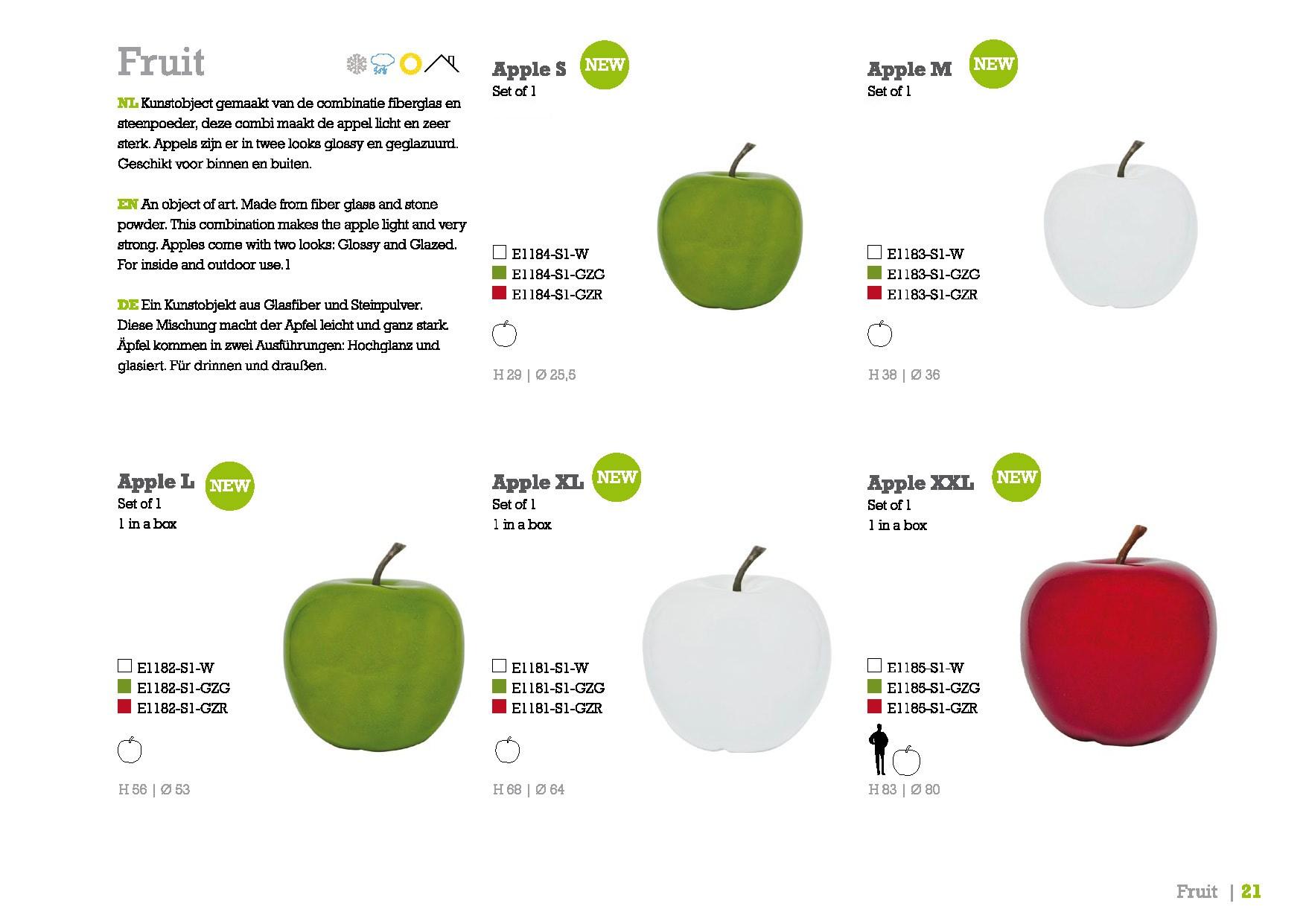 Fruit Apple - Apfel Dekoobjekt