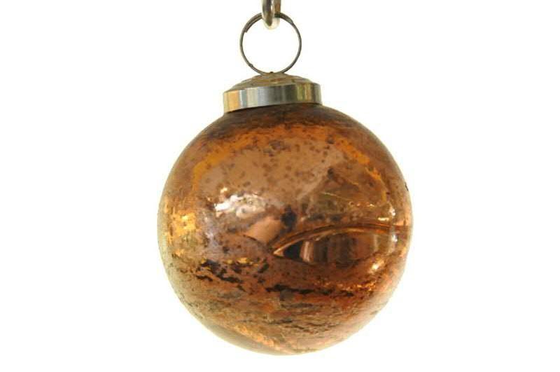Weihnachtskugeln Kupfer.Glas Weihnachtskugeln Kupfer