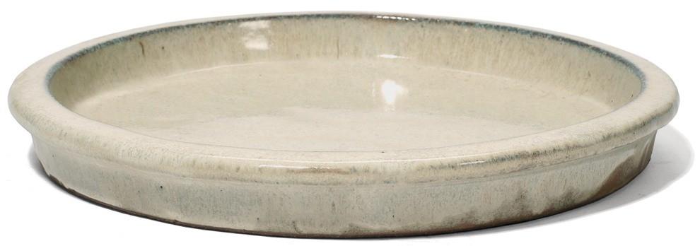 Untersetzer rund   Creme Keramik   Terrapalme Heim- und Gartenshop