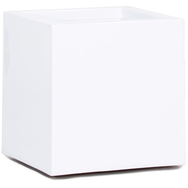 Großartig Premium Cubus Pflanzkübel weiß | Terrapalme Heim- und Gartenshop OC77