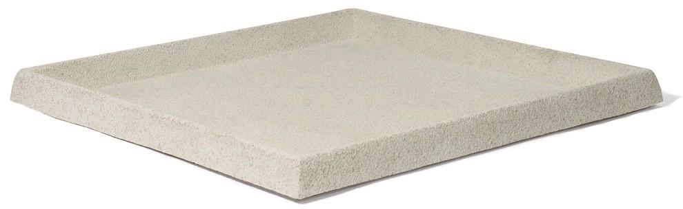 Untersetzer quadratisch für Pflanzkübel | Artline Stone Cream ...