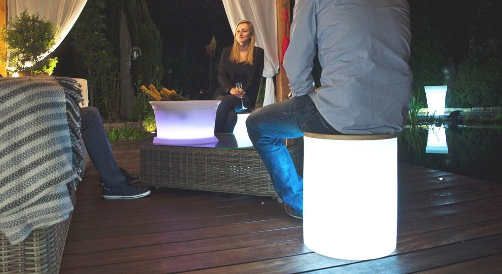 shining drum au enleuchte in form eines hockers terrapalme heim und gartenshop. Black Bedroom Furniture Sets. Home Design Ideas