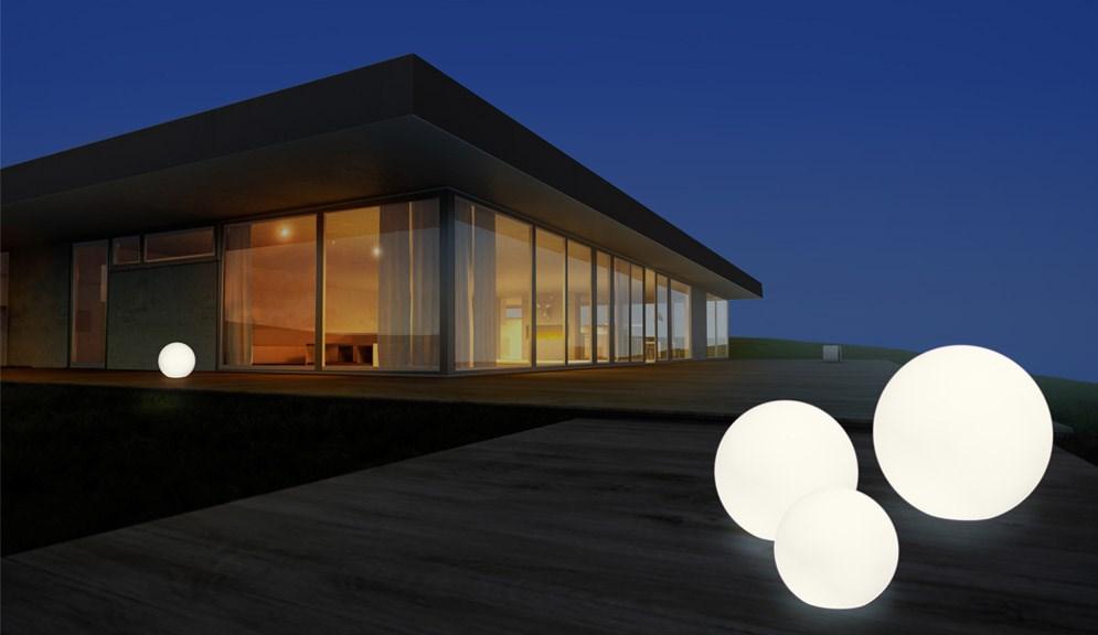 Design Außenleuchten shining globe kugel außenleuchte terrapalme heim und gartenshop