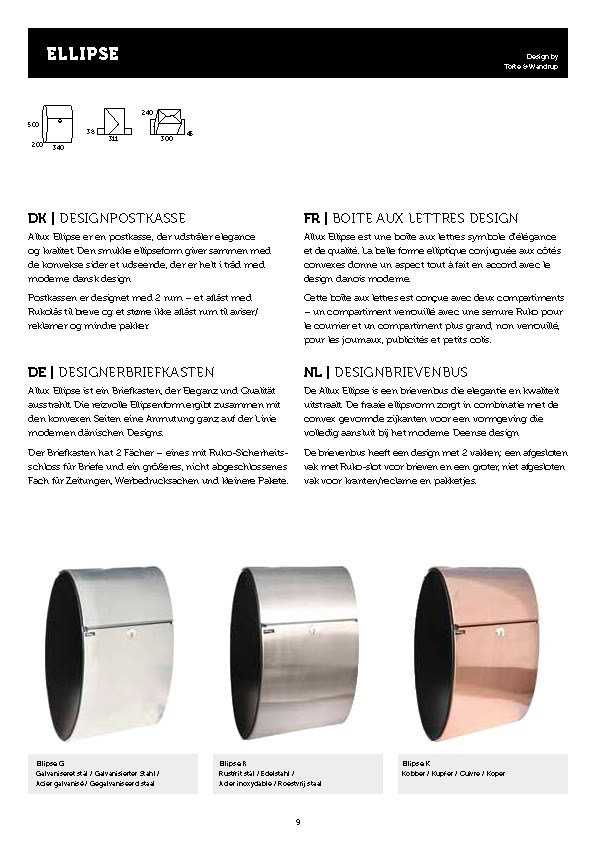 Allux-Ellipse-Design-Briefkasten-Serie