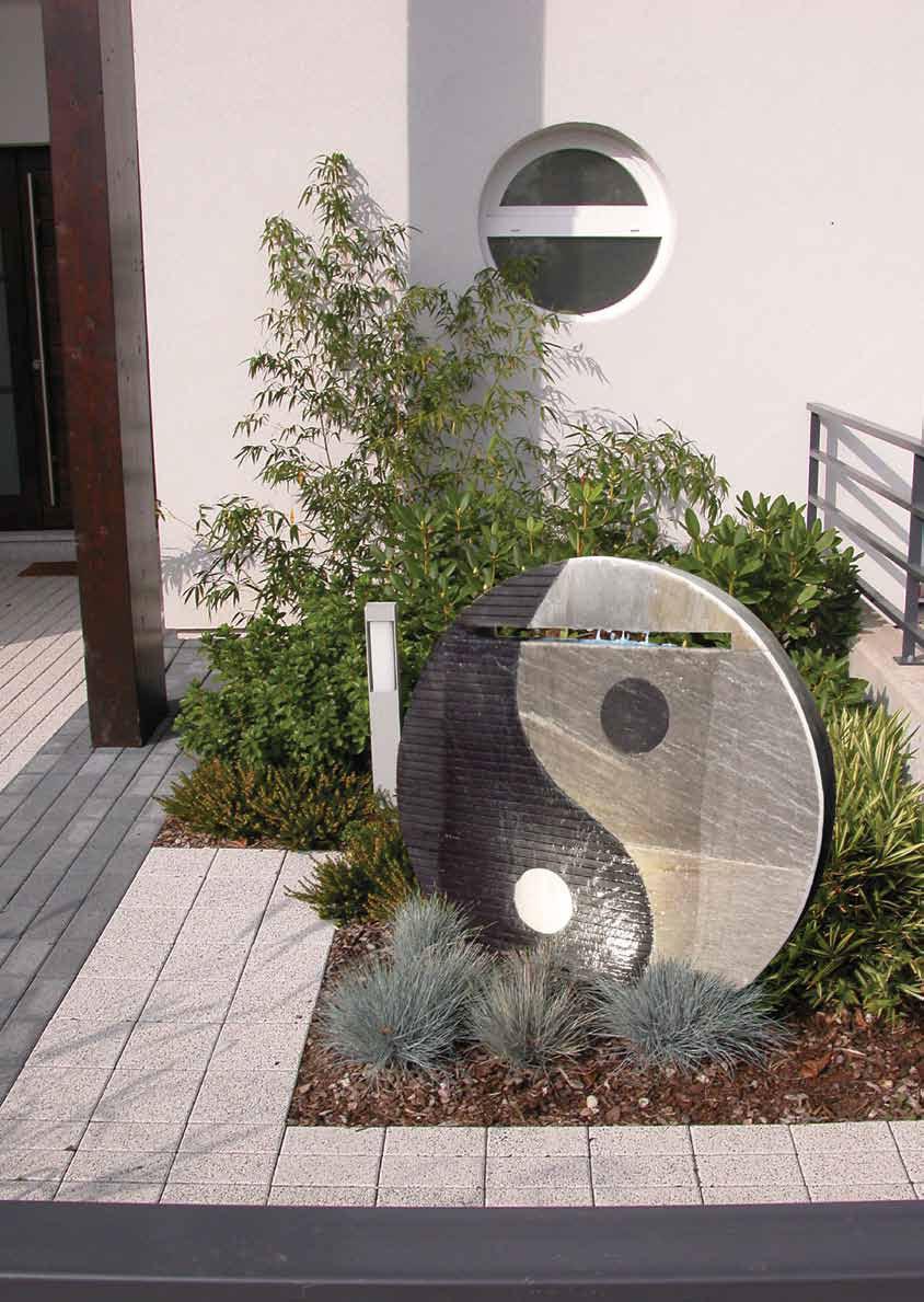 Yin yang 75 schiefer zimmerbrunnen terrapalme heim und - Naturstein zimmerbrunnen ...