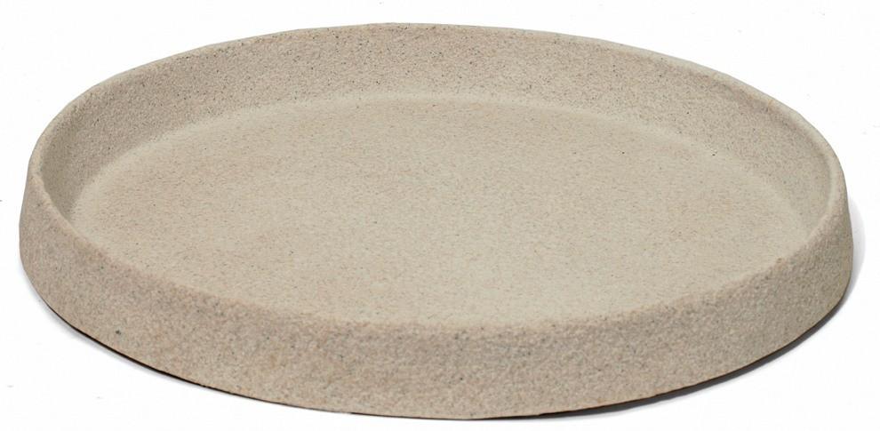 Untersetzer rund für Pflanzkübel | Artline Stone Cream | Terrapalme ...
