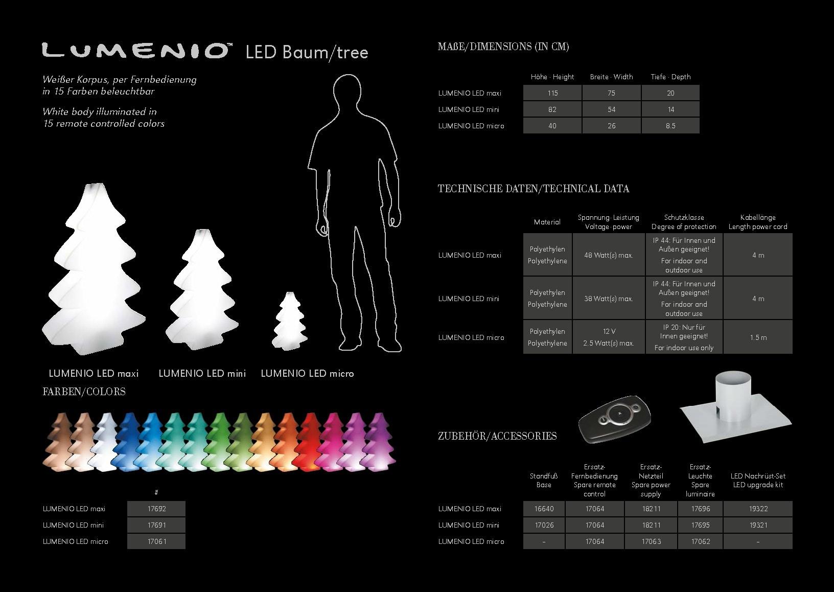 Lumino Led Baum Broschuere