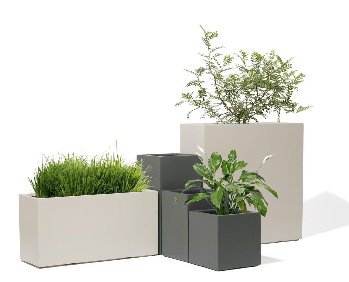 Kubo Weiß | UrbanLine Pflanzsäule | Terrapalme Heim- und Gartenshop