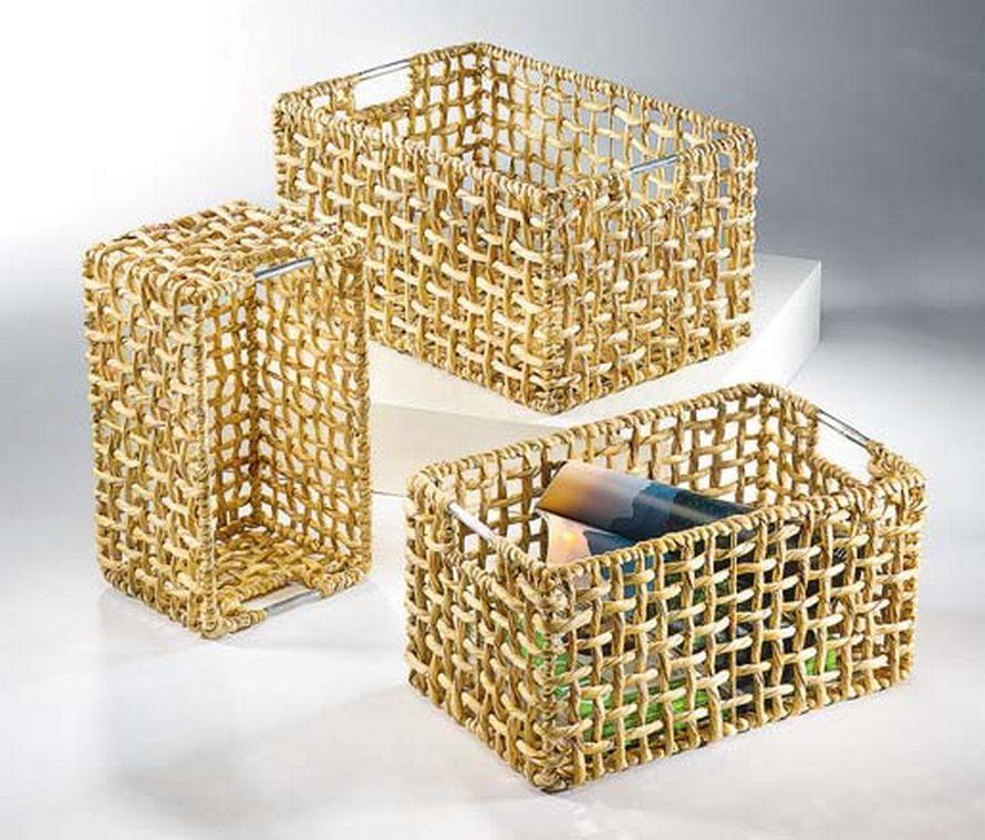 regalkorb cagedor aus metallgriffen 3er set terrapalme heim und gartenshop. Black Bedroom Furniture Sets. Home Design Ideas